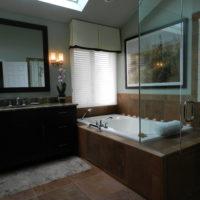 Brown Soaker Tub