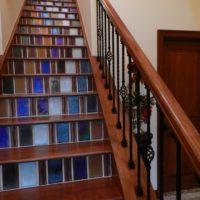Glass Tile Staircase