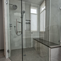 Grey Waterfall Steam Shower