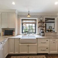 Hardwood Floors And Farmhouse Sink