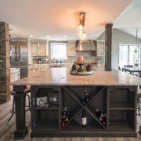 Rustic Kitchen With Large Island