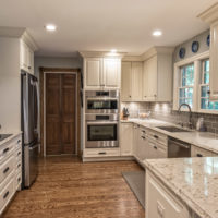 Stainless Steel And White Kitchen