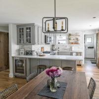 Grey Kitchen With Peninsula