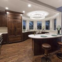 Circular Kitchen With Quartz Countertop