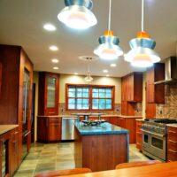 Modern Kitchen With Pendant Lighting