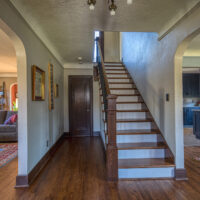 Stair With Wood Banister