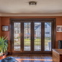 Study With Four Panel French Doors