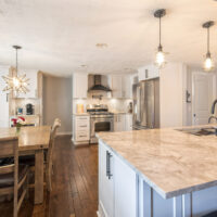 Large Kitchen Island With Marble Countertop