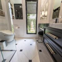 Modern Bath With Glass Shower