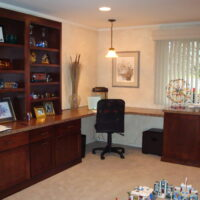 Finished Basement Office