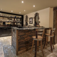 Finished Basement Rustic Style