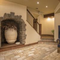 Finished Basement Stone Arch