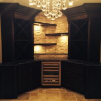 Finished Basement Stone Bar