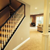 Finished Basement With Staircase
