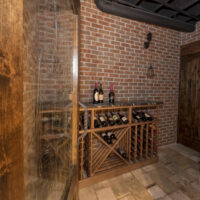 Rustic Winecellar Finished Basement
